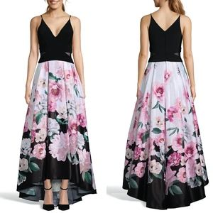 XSCAPE Floral High/Low Evening Dress BALL GOWN 4